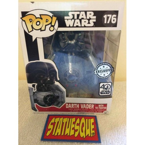 Funko POP! 176  Star Wars Darth Vader with Tie Fighter 10cm Exclusive FUNKO - 2