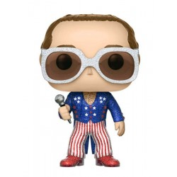 Funko POP! 63 Rocks Elton John  (Patriotic) (Glitter) 9cm Exclusive FUNKO - 1