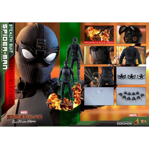 Spider-Man: Far From Home MM Action Figure 1/6 Spider-Man (Stealth Suit) Dlx Ver. 29 cm HOT TOYS - 17
