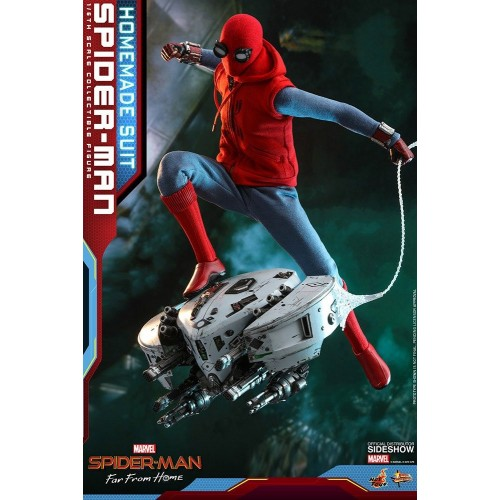 Spider-Man: Far From Home Action Figure 1/6 Spider-Man (Homemade Suit) 29 cm HOT TOYS - 3