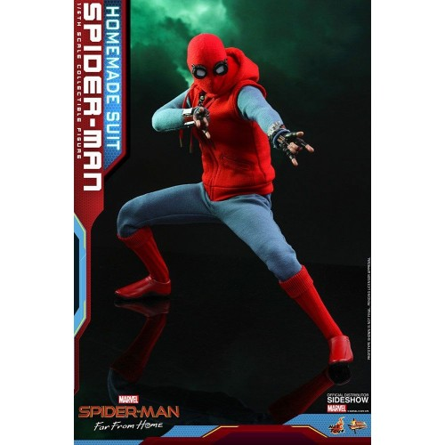 Spider-Man: Far From Home Action Figure 1/6 Spider-Man (Homemade Suit) 29 cm HOT TOYS - 6