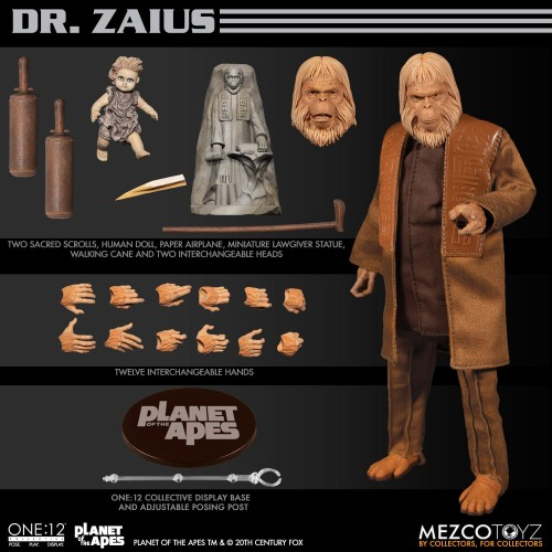 Planet of the Apes Action Figure 1/12 Dr. Zaius 16 cm Mezco - 2