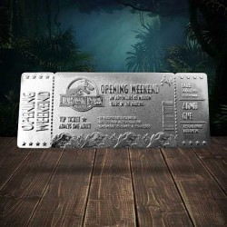 Jurassic Park Replica Opening Weekend VIP Ticket (silver plated) Fanatik - 1