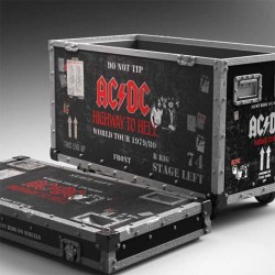 """AC/DC Rock Ikonz On Tour """"Highway to Hell"""" Road Case Statue + Stage Backdrop Knucklebonz - 1"""