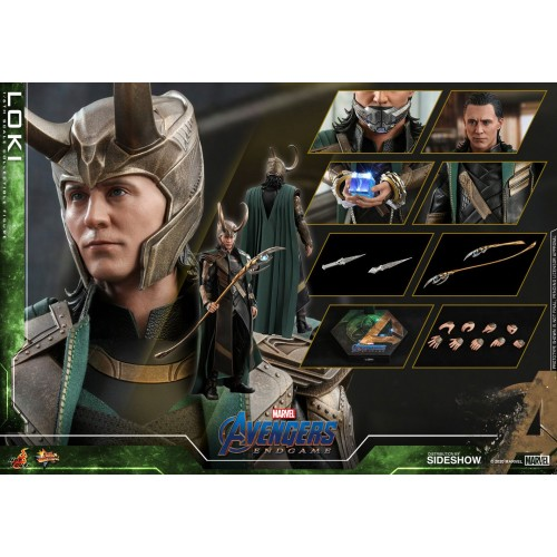 Avengers: Endgame Movie Action Figure 1/6 Loki 31 cm Hot Toys - 18