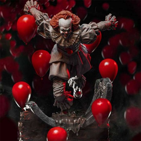 It Chapter Two Deluxe Art Scale Statue 1/10 Pennywise 21 cm Iron Studios - 1