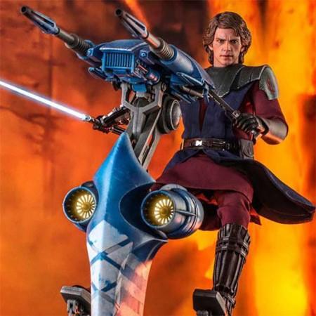 Star Wars The Clone Wars Action Figure 1/6 Anakin Skywalker & STAP 31 cm Hot Toys - 1