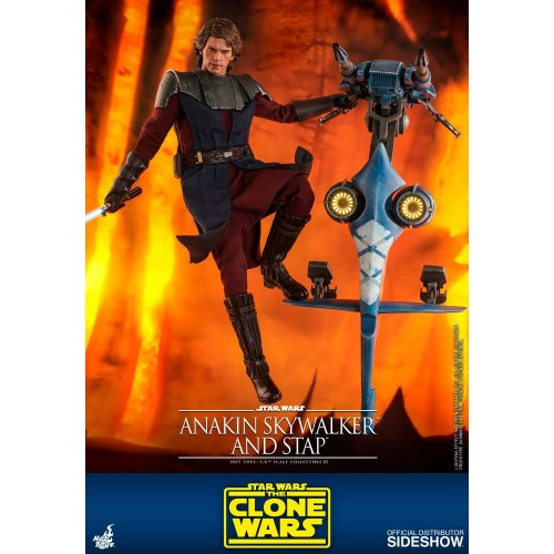 Star Wars The Clone Wars Action Figure 1/6 Anakin Skywalker & STAP 31 cm Hot Toys - 4