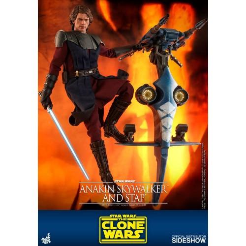 Star Wars The Clone Wars Action Figure 1/6 Anakin Skywalker & STAP 31 cm Hot Toys - 6