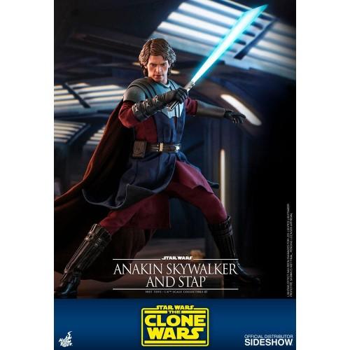 Star Wars The Clone Wars Action Figure 1/6 Anakin Skywalker & STAP 31 cm Hot Toys - 7