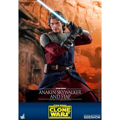 Star Wars The Clone Wars Action Figure 1/6 Anakin Skywalker & STAP 31 cm Hot Toys - 8