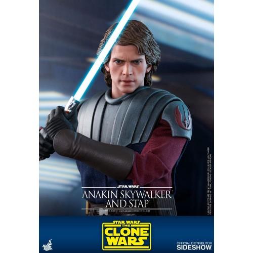 Star Wars The Clone Wars Action Figure 1/6 Anakin Skywalker & STAP 31 cm Hot Toys - 9