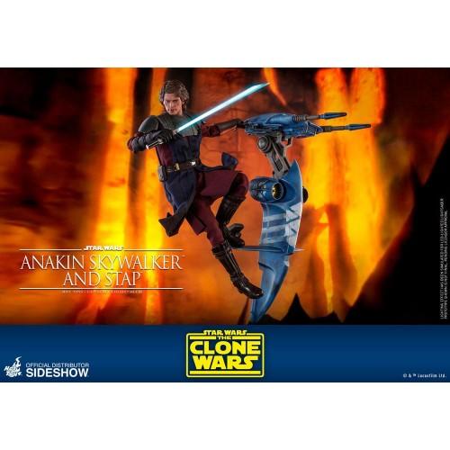 Star Wars The Clone Wars Action Figure 1/6 Anakin Skywalker & STAP 31 cm Hot Toys - 11