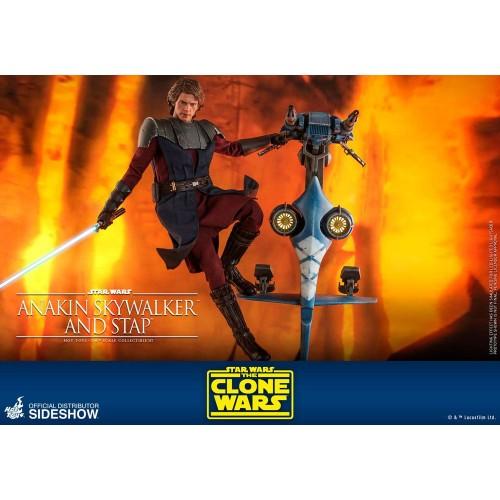 Star Wars The Clone Wars Action Figure 1/6 Anakin Skywalker & STAP 31 cm Hot Toys - 12
