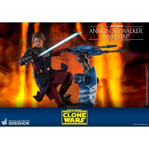 Star Wars The Clone Wars Action Figure 1/6 Anakin Skywalker & STAP 31 cm Hot Toys - 14