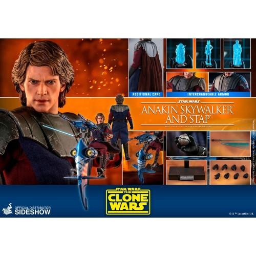 Star Wars The Clone Wars Action Figure 1/6 Anakin Skywalker & STAP 31 cm Hot Toys - 18