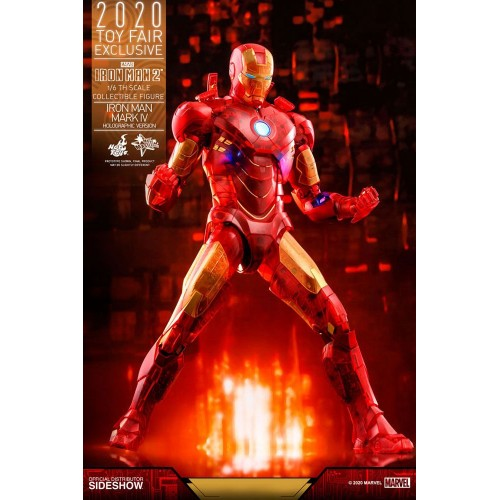Iron Man 2 MM Action Figure 1/6 Iron Man Mark IV (Holographic Version) 2020 Toy Fair Exclusive 30 cm Hot Toys - 3