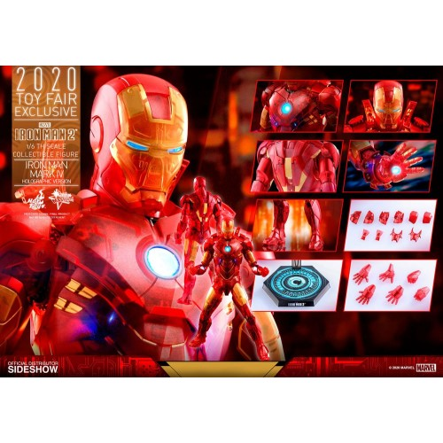 Iron Man 2 MM Action Figure 1/6 Iron Man Mark IV (Holographic Version) 2020 Toy Fair Exclusive 30 cm Hot Toys - 21
