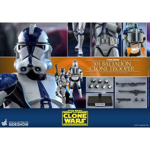 Star Wars The Clone Wars Action Figure 1/6 501st Battalion Clone Trooper 30 cm Hot Toys - 11