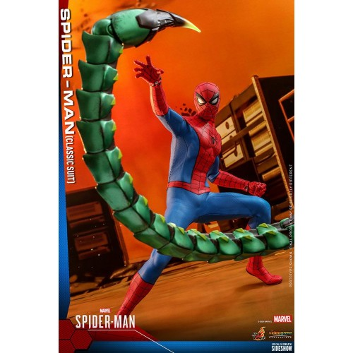 Marvel's Spider-Man Video Game Action Figure 1/6 Spider-Man (Classic Suit) 30 cm Hot Toys - 4