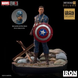 Marvel Comics BDS Art Scale Statue 1/10 Captain America First Avenger MCU 10 Years Event EX 21 cm Iron Studios - 1