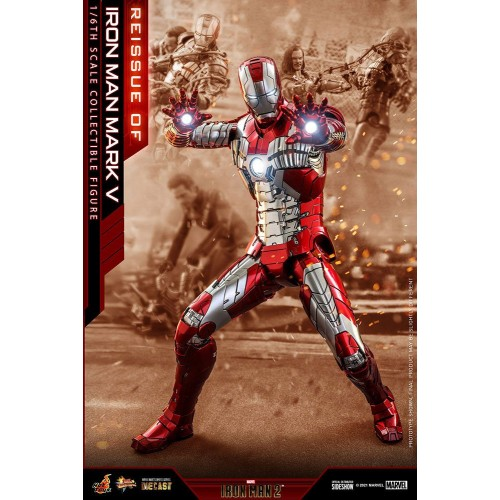 Iron Man 2 Movie Diecast Action Figure 1/6 Iron Man Mark V 32 cm Hot Toys - 3