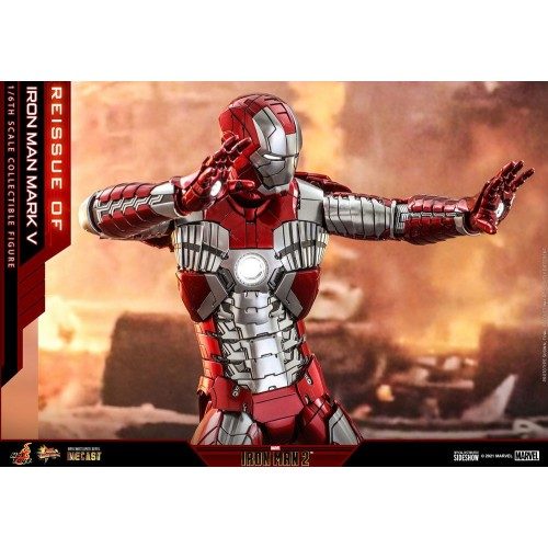 Iron Man 2 Movie Diecast Action Figure 1/6 Iron Man Mark V 32 cm Hot Toys - 8
