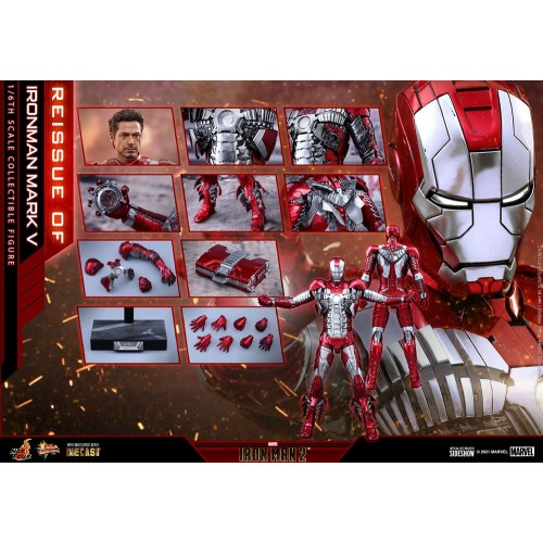 Iron Man 2 Movie Diecast Action Figure 1/6 Iron Man Mark V 32 cm Hot Toys - 10