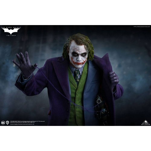 The Dark Knight Statue 1/4 Heath Ledger Joker Regular Edition 52 cm Queen Studio - 3