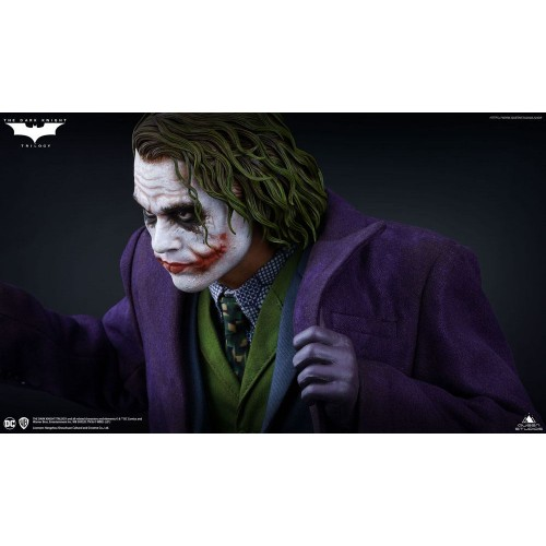 The Dark Knight Statue 1/4 Heath Ledger Joker Regular Edition 52 cm Queen Studio - 9