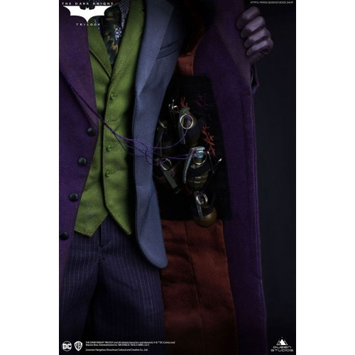 The Dark Knight Statue 1/4 Heath Ledger Joker Regular Edition 52 cm Queen Studio - 12