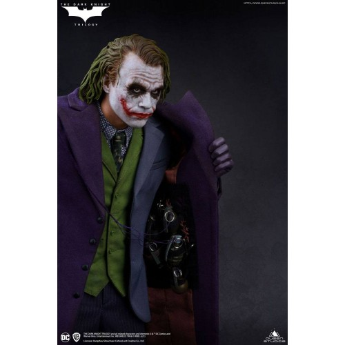 The Dark Knight Statue 1/4 Heath Ledger Joker Regular Edition 52 cm Queen Studio - 13