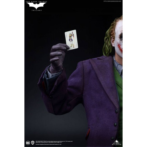 The Dark Knight Statue 1/4 Heath Ledger Joker Regular Edition 52 cm Queen Studio - 15