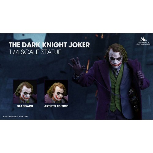 The Dark Knight Statue 1/4 Heath Ledger Joker Regular Edition 52 cm Queen Studio - 16