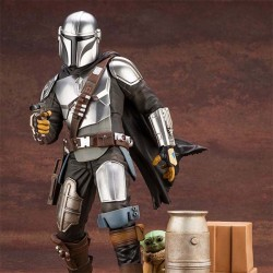 Star Wars The Mandalorian ARTFX Statue 1/7 Mandalorian & The Child 26 cm Kotobukiya - 1