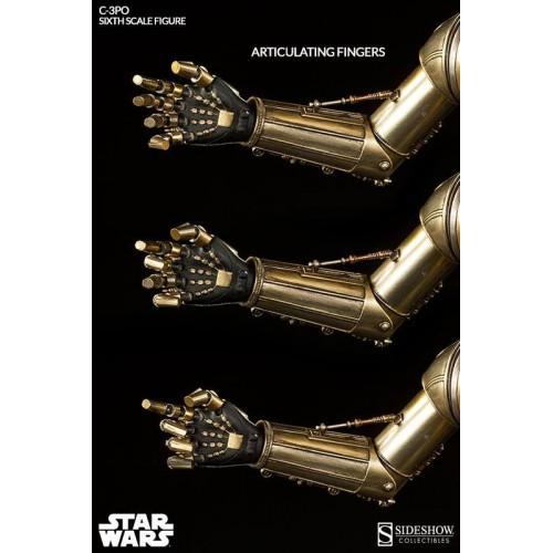 Star Wars Episode IV Action Figure 1/6 C-3PO 30 cm Sideshow Collectibles - 7