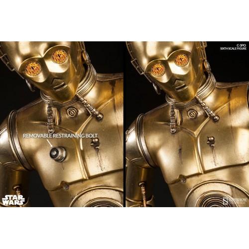 Star Wars Episode IV Action Figure 1/6 C-3PO 30 cm Sideshow Collectibles - 9