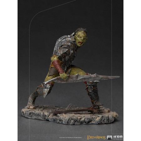 Lord Of The Rings BDS Art Scale Statue 1/10 Swordsman Orc 16 cm Iron Studios - 1