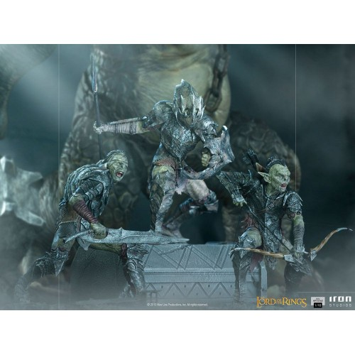 Lord Of The Rings BDS Art Scale Statue 1/10 Swordsman Orc 16 cm Iron Studios - 16