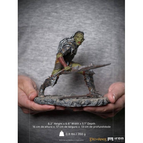 Lord Of The Rings BDS Art Scale Statue 1/10 Swordsman Orc 16 cm Iron Studios - 19