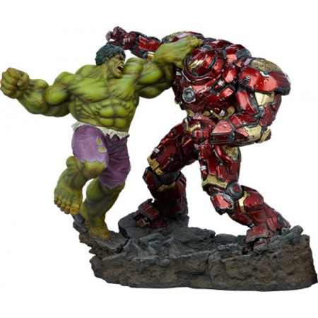 Marvel Maquette Hulk vs Hulkbuster 50 cm Sideshow Collectibles - 1