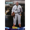 Back To The Future Movie Action Figure 1/6 Doc Brown 30 cm Hot Toys - 1